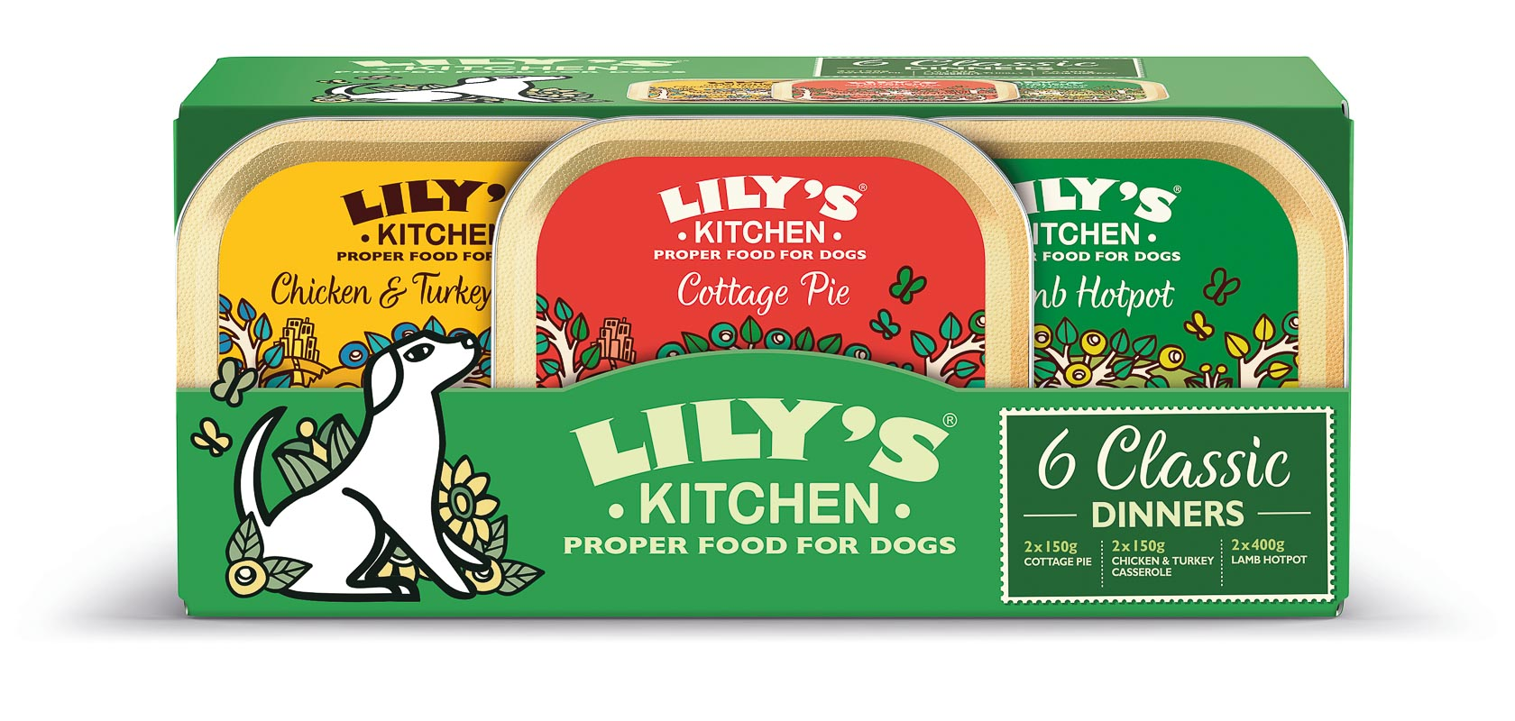 Dog Classic Dinners Multipack 6x150g
